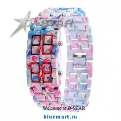 Красивые женские наручные часы, LED, подарочный бокс