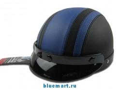 Модный кожанный мотошлем с ветрозащитными очками углового обзора IS-MIX в трех цветах.