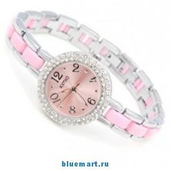 JPSB116 - Круглые женские часы со стразами