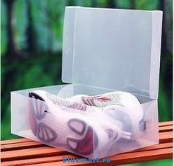 Прозрачные коробки для хранения обуви 10 шт