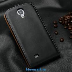 Кожаный чехол для Samsung Galaxy S4 с отделением для пластиковых карт и купюр, и подставкой, 7 цветов + защитная пленка для экрана