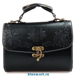 Винтажная женская сумка с цветочным резным узором