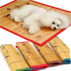 Люксовый бамбуковый коврик для собаки