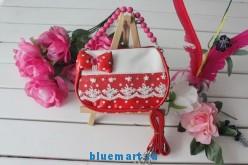 Детская красная сумка