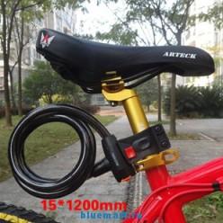 Противоугонный трос для велосипеда 15х1200 мм