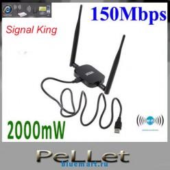 SK-999WN - беспроводной маршрутизатор WI-FI, 150Mб/с, 11N, 2000мВт, 48DBI USB, Ralink 3070