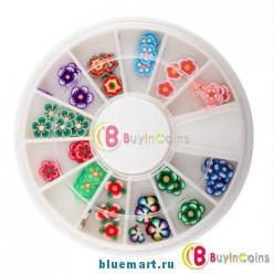 Цветочные украшения на ногти, 60 шт