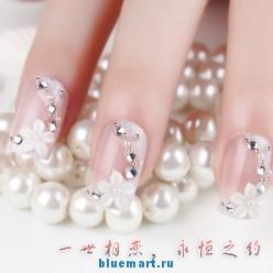Праздничные накладные ногти, 24 штуки