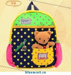 Рюкзак детский с узором и фигурой персонажа мультфильма, 4 цвета на выбор