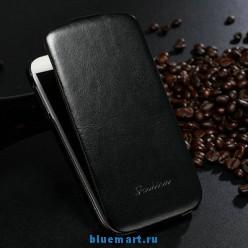 Кожаный чехол для Samsung Galaxy S4 + защитная пленка для экрана