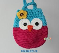Детский кошелек-сумка ручной работы