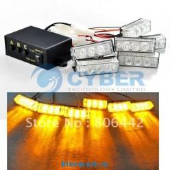 Комплект светодиодных габаритных световых элементов, 18 LED, 6 элементов, янтарный свет