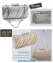 Женская атласная вечерняя сумочка