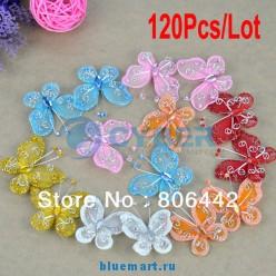 Декоративные бабочки, 120шт