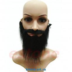 Накладные искусственные усы и борода, 2шт