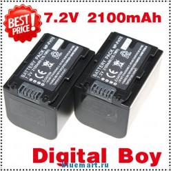 NP-FH70 - 2 аккумулятора Li-ion 2100 мАч для Sony DCR-HC24E DCR-DVD305E