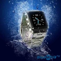 W818 - мобильный телефон-часы, водостойкий и из нержавеющей стали