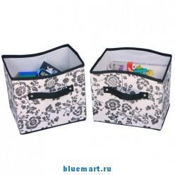 Набор из двух тканевых ящиков для хранения вещей