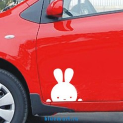 Оригинальная наклейка для автомобиля, мультипликационный кролик