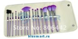 Набор кистей (16шт) для макияжа в кожаном чехле