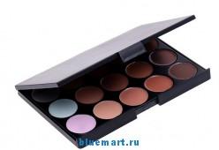 Набор кистей (32шт) для макияжа в кожаном чехле + 15 оттенков румян