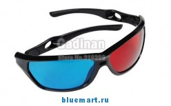 Анаглифные 3D-очки в пластиковой оправе