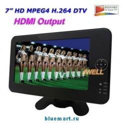 JWELL DVT-712HD - телевизор, TFT LCD, 7