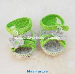 Летние вязаные сандалии