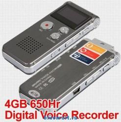 650Hr - цифровой диктофон, 4GB, OLED, USB, MP3, WAV