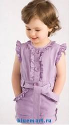 Летнее платье с пояском