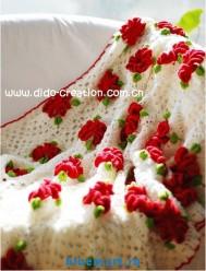 Вязаное одеяло крючком