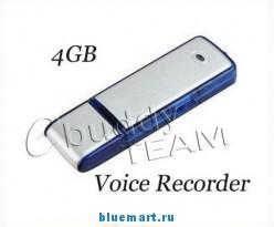 2 в 1 Цифровой диктофон + USB Flash WR-08, 4GB, MP3, WAV