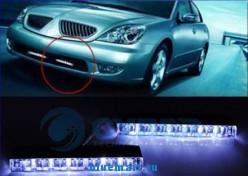 Комплект из 2х белых светодиодных подсветок по 6 DRL  светодиодов в каждой для использования в дневное время