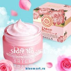 SHILLS ночной крем с экстрактом дамасской розы, 50ML