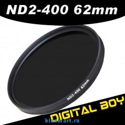 Нейтрально-серый фильтр 62 мм ND2-ND400 для Canon; Nikon; Pentax18-135 18-250