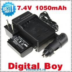 NP-FH50 - аккумулятор + зарядное устройство + автомобильное зарядное устройство + штекер для Sony SR, HC, DVD