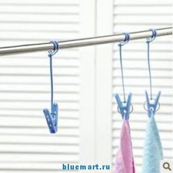 Прищепки для белья с верёвками, 12 шт.