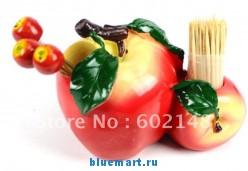 Декоративная подставка для зубочисток + 5 шпажек-вилок + набор зубочисток