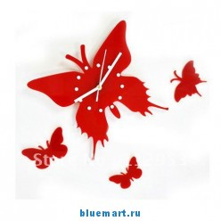 Настенные часы в виде бабочки