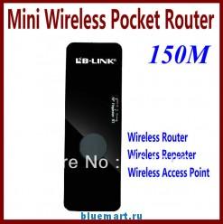 Беспроводной маршрутизатор – беспроводная точка доступа, 150 Мб/с, Wi-Fi ретранслятор, черный