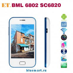 BML 6802 - смартфон, Android 4.1, SC6820 Cortex A5 1GHz, 3.5