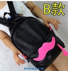 Мультфильм моды ПУ кожа рюкзак усы в стиле 2013 новая женщины мужчины мешок школы 8 цветов 2 размера