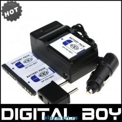 NP-FD1 - 3 аккумулятора + зарядное устройство + автомобильное зарядное устройство + штекер дляSony T2 T90 T70 T200