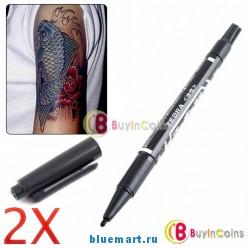 Двойной маркер для татуировок и пирсинга