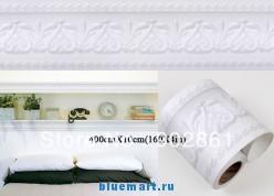 Белая стикер-кайма с узором