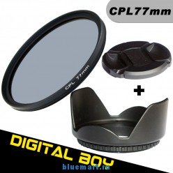 Набор: циркулярно-поляризационный фильтр 77 мм, бленда, крышка объектива для Canon; Nikon 24-105 70-200