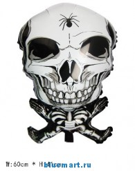 Воздушный шар в виде скелета, 50 шт