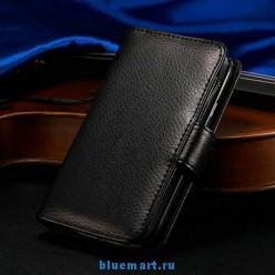 Кожаный чехол-бумажник для Samsung Galaxy S4