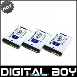NP-FD1 - 3 аккумулятора Li-ion для Sony NP-BD1 NPBD1 NPFD1