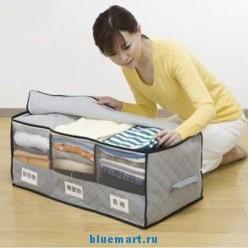 Бамбуковый органайзер для одежды и белья, 60х35х30 см